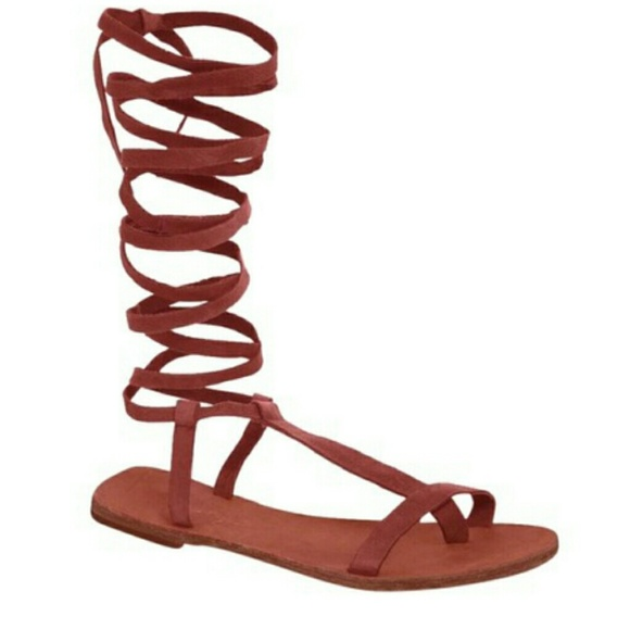 Free People Shoes - New Free People Dahlia Brick Lace Up Sandal Sz 8